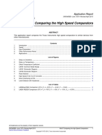 Comparing high Speed comparators