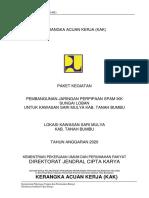 KAK Pembangunan Jaringan Perpipaan Kab. Tanbu Sungai Loban Fix