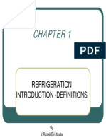 chapter 1 - refrigeration introduction definitions