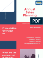 Annual Sales Planning