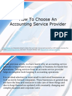 How to Choose an Accounting Service Provider