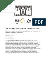 Anti-Islamic Attitudes of Israel and Japan