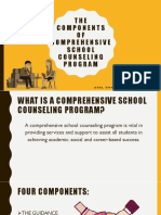 PART 3 THE COMPONENTS OF COMPREHENSIVE SCHOOL COUNSELING PROGRAM