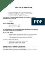 Examen final de farmacología