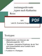 Übersetzungsrelevante Texttypen Nach Katharina Reiss