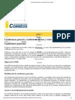 Condiciones general y condiciones de uso y venta