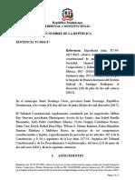 TC 0331-17 sobre caracter pública de la entidad de gestión colectiva (Caso EGEDA)