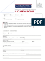 Application Form BBA