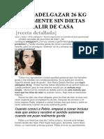 CÓMO ADELGAZAR 26 KG FÁCILMENTE SIN DIETAS Y SIN SALIR DE CASA