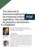 3 fases de internacionalización de las empresas argentinas