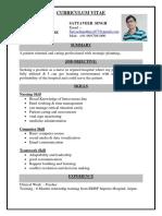 satyaveer singh resume