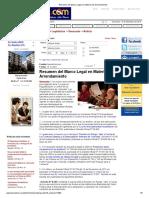 Resumen del Marco Legal en Materia de Arrendamiento