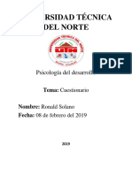 Cuestionario de psicologia del desarrollo