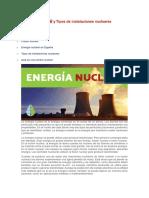 energía nuclear y tipos de instalacion