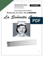ACTIVIDAD I - LA SEÑORITA CORA