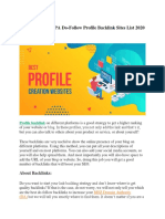 500+ Profile Backlinks List for 2020