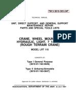 Lorain LRT400 Parts Manual