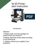 A6 3D Printer Installation Instructions-1.2