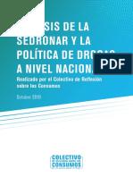 informe Sedronar y politica nacional de Drogas