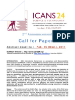 ICANS24 Call for Paper 2nd Announcement
