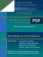 Taller de tesis metodologia de la investigación2018
