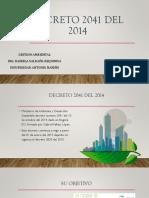 DECRETO 2041 DEL 2014