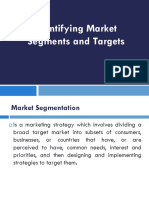 Identifying Market  Segmets and Targets