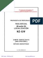 Programa Construcción de Pozo 01-04-2019
