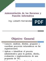 Administración de los Recursos y la Funcion Informatica