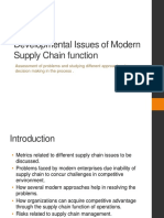 Developmental Issues of Modern Supply Chain function