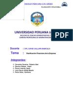 MONOGRAFIA final  PLANIFICACION FINANCIERA DE UNA EMPRESA