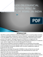 CASE STUDY ON FINANCIAL INSTITUTION  ROLE IN DEVELOPING