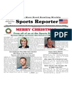 December 25 - 31, 2019  Sports Reporter