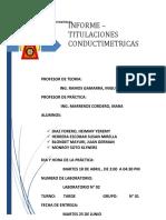 6 INFORME de Titulacion Conductimetras