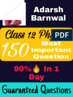 Imp Phy Ques - solution class 12