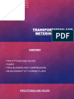 TRANSPORTATION AND METERING OF FLUIDS