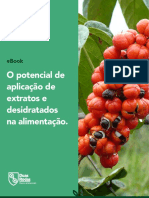 O potencial de aplicação de extratos e desidratados na alimentação.