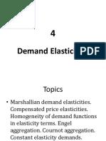 4 Demand Elasticities