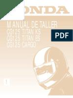 Honda Cg 125 Titan Es-ks-cargo '00 a '02 - Manual de Taller