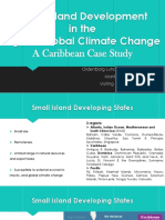 Small Island Development and Climate Change