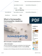 What is Homeopathy - Homeopathic medicine - Homeopathy