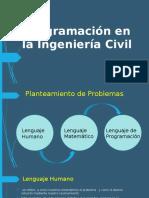 PROGRAMACION EN LA INGENIERIA CIVIL [ppt]