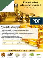 Penyakit akibat kekurangan Vitamin E