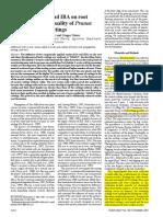 IAA IBA. Influence of IAA and IBA root development and quality of Prunus Gisela leafy cuttins