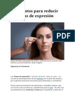 4 alimentos para reducir las líneas de expresión