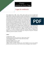 Dossier PERCY ZAGA - POETA