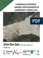 Ollero (2016) La importancia de la protección de singuralidades y aspectos relacionados coníla geomorfología y la dinámica fluvial