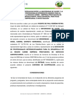 CONVENIO  DE COOPERACION.