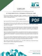 Reglamento interno Universidad Autonoma del Caribe