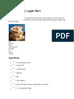 recipe --Danish Pastry Apple Bars.doc